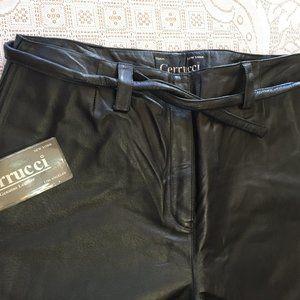NWT Black Leather Pants by Cerrucci Sz 6, 14 & 16